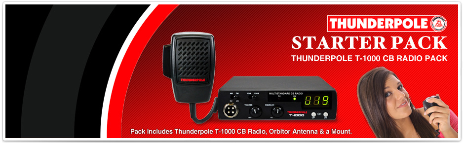 CB Radio Packs; 2-Way Radios; Ham Radios; CB Radios; Antennas