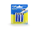 4x AAA 700mAH Ni-MH Rechargeable Batteries