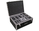 Aluminium Radio Flight Case With Foam | Black