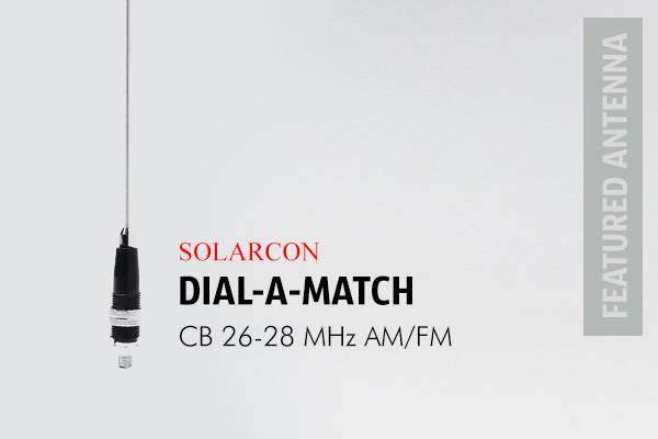 Solarcon Dial a Match CB Radio Antenna is a short aerial for general use with a turnable coil. Simply twist the rings for the lowest SWR.