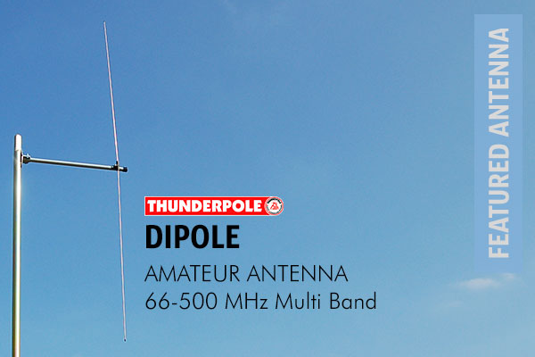 Thunderpole Dipole Amateur Radio Aerial and FM Broadcast Antenna comes with a cutting chart to allow to change the frequency from 66 - 500 MHz.