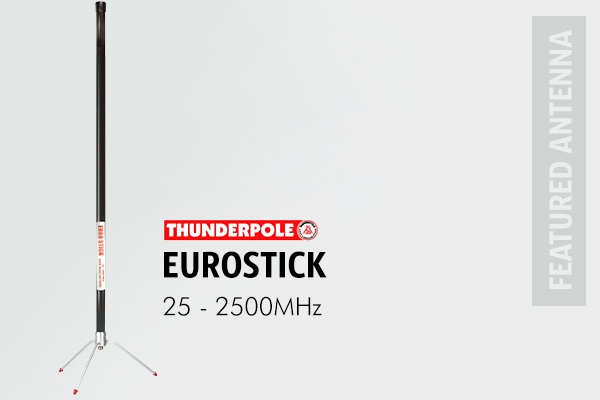 Thunderpole Euro Stick is a compact antenna with wide band coverage can be mounted outside or in a loft.