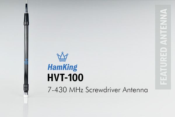 The HamKing HVT-100 comprises a base loaded electronically tuned screwdriver antenna with a flexible whip.