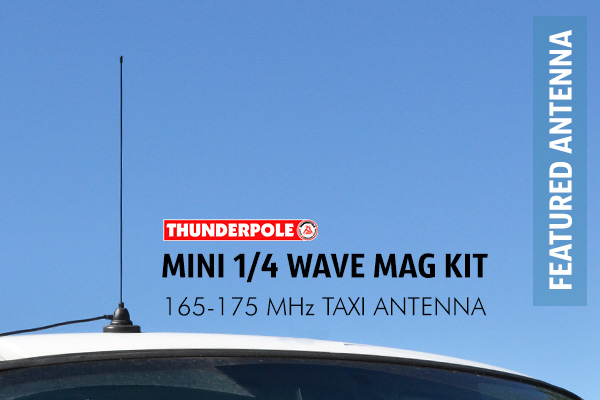 A 1/4 Wave Taxi Mag Kit complete with 70 mm Magnetic Base, 4 metre of coaxial cable and BNC plug included.
