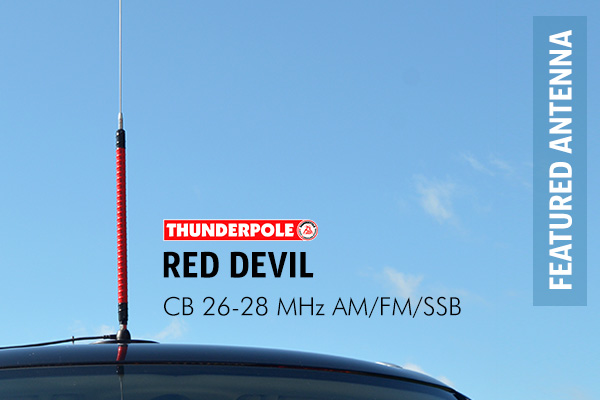 Thunderpole Red Devil CB Radio Atenna is a long coil aerial with wide-band coverage making it a good choice for any serious mobile CB'er.
