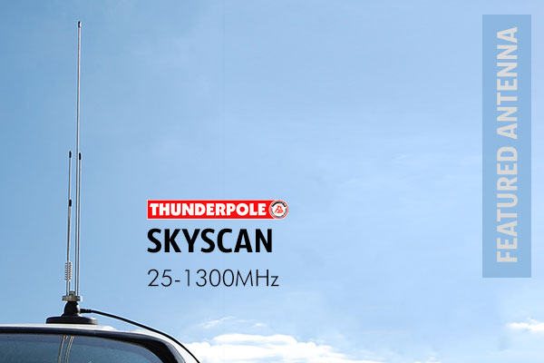 Thunderpole Skyscan Mobile Scanning Antenna is made up of several different lengths of aerial, each one designed to pick up a certain bands with a frequency range of 25-1300MHz.