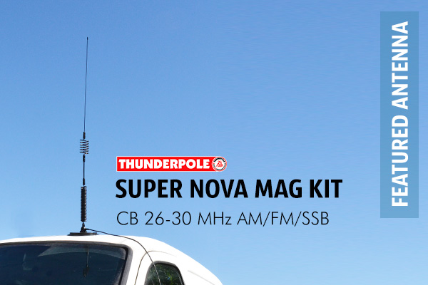Thunderpole Super Nova CB Radio Aerial. It is designed to outperform other antennas on transmit and receive. It is very durable and the SWR is also pre-tuned.