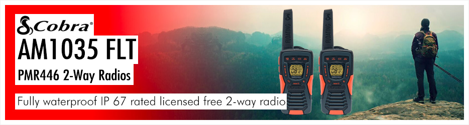 Connect Your Workforce with Cobra AM1035 PMR446 Walkie Talkies. A durable, powerful professional waterproof 2-way radio.