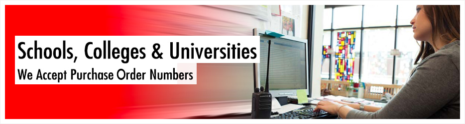 We specialise in radios for schools and education. Our range of 2 way radios for schools, colleges and universities help improve communications across your site or campus.