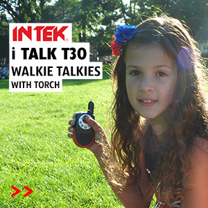 The Intek iTalk T30 is a tough little walkie talkie, ideal for kids and all the family to use on holiday or any leisure pursuit.