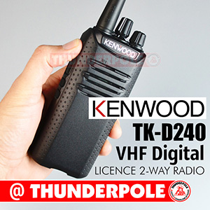 These Kenwood TK-D340 are user-friendly DMR radios operating on analog and digital frequencies. Available in VHF and UHF formats.