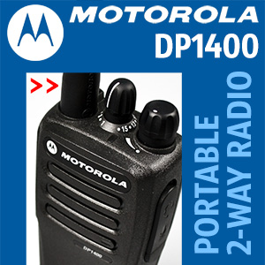 Motorola DP1400 portable 2-way analogue/digital radio connects your workforce efficiently and has the flexibility to grow with your business.