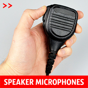 Speaker Microphones for Icom, Motorola or Kenwood walkie talkies. They can be clipped to a lapel/top pocket or held in hand.