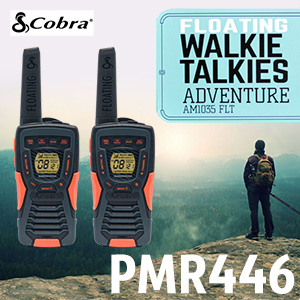 The Cobra AM1035 FLT is a Licence Free walkie talkie covering the PMR446 & DCS bands. It is ideal for anyone looking for a durable, powerful professional waterproof radio.