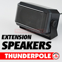 High quality, high power Thunderpole CB Radio extension speakers with 3.5mm jack plugs to fit all radios.