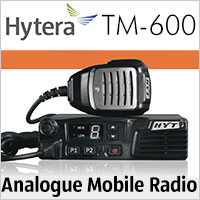 The Hytera TM-600 mobile radio delivers reliable analogue communications for desktop or in-vehicle deployments.