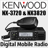 Kenwood NX-3720 and NX-3820 are adaptable mobile radios that support both NXDN and DMR digital protocols as well as mixed digital & FM analogue operation.