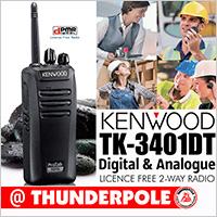 The Kenwood TK-3401 DT is a premium, licensed free 2-way business radio that operate on digital and analogue frequencies.