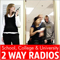 We have a large range of 2 way radios for schools, colleges and universities to help school staff stay in touch on site.