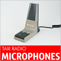 Replacement taxi radio microphones for Motorola, Kenwood, Icom, Tait and Vertex PMR Radios.