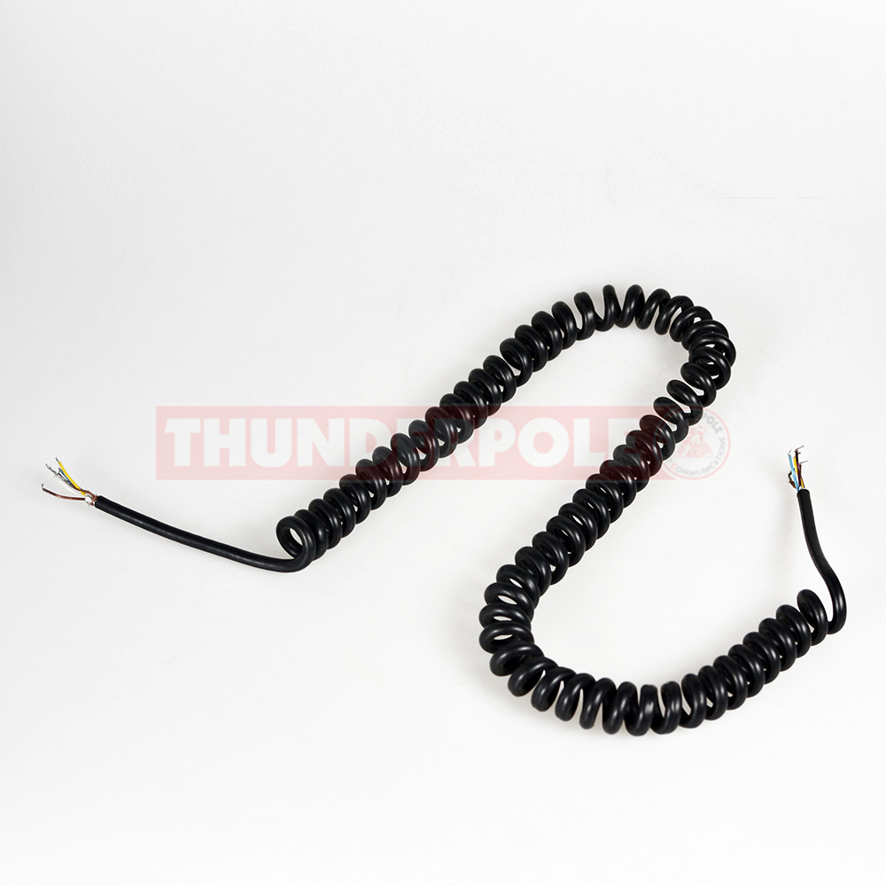 Microphone Replacement Lead for CB & Ham Radios | Curly Cable | 5 Core + Screen | 3m