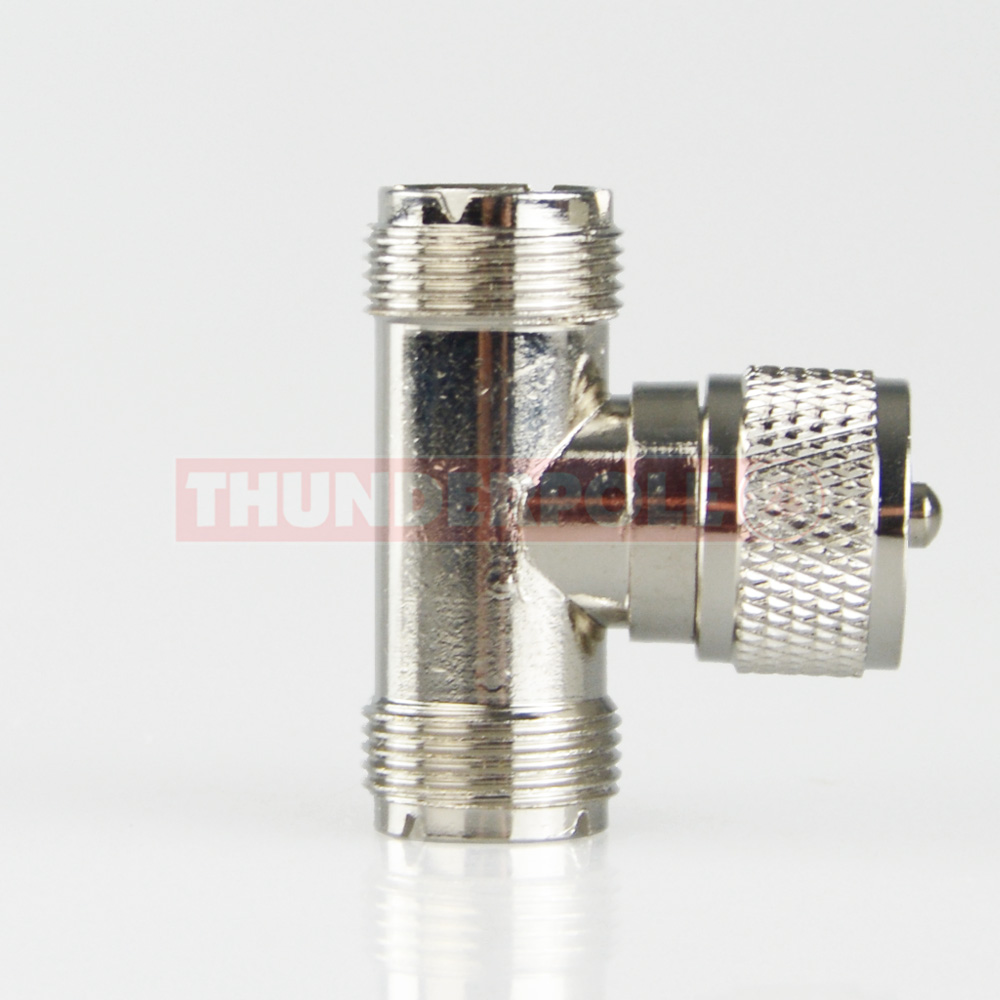 T - Connector - PL259 to 2x SO239