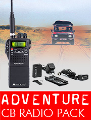 CB Radio Adventure Pack, ideal for overseas adventures where inconspicuous communication is required.