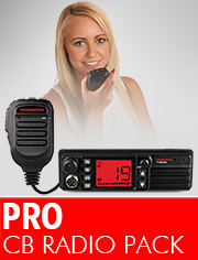 CB Radio Pro Pack, ideal if you need a robust, front speaker radio with dashboard Din Mount.