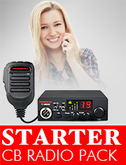 CB Radio Starter Pack, ideal for anyone new to CB, a basic radio and everything you need to get started.