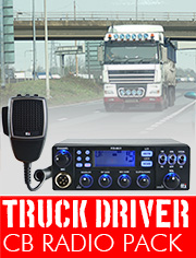 CB Radio Truck Driver Pack, ideal for Truck Drivers or any vehicle with a 24v DC supply. Includes a radio that can be used throughout Europe.