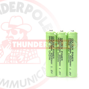 3x AAA 600 mAH Ni-MH Rechargeable Batteries
