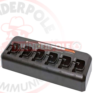 Motorola 6 -Way Drop In Charger | Multi Charging Unit & UK PSU for Motorola CP040 / DP1400