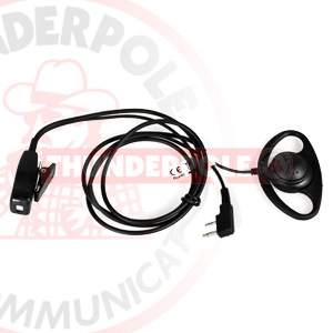 D-Shape Earpiece / Microphone for Motorola Radios | M4