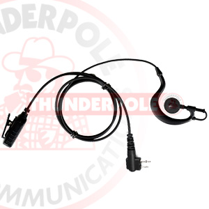 G-Shape Earpiece / Microphone for 2 Pin Motorola Radios