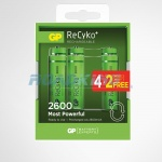 6x AA 2600mA NiMH Rechargeable Batteries