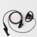 D-Shape Earpiece / Microphone for Motorola DP3400 / DP3600 / DP4400 / DP4600 / DP480 | M7
