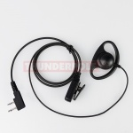D-Shape Earpiece / Microphone for 2 Pin Icom, Midland  Radios | S2