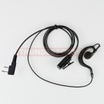 G-Shape Earpiece / Microphone for 2 Pin Kenwood Radios