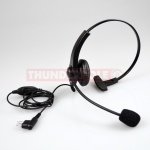 Light Weight Headset & Boom Mic for Single Pin Motorola & Cobra Radios | M2