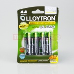 4x AA 2700mAH Ultra  Ni-MH Rechargeable Batteries