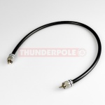 Thunderpole PL259 50cm Patch Lead -  Premium RG213